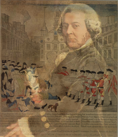 John Adams - Overlay on Boston Massacre