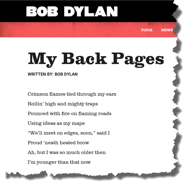 My Back Pages