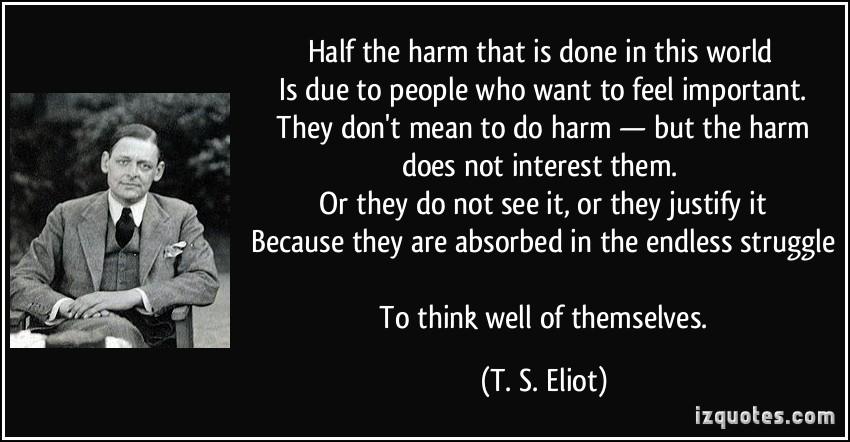 quote - Half the Harm